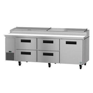 "Hoshizaki ""Hoshizaki PR93A-D4 SteelHeart 93"""" Pizza Prep Table w/ Refrigerated Base, 115v"""