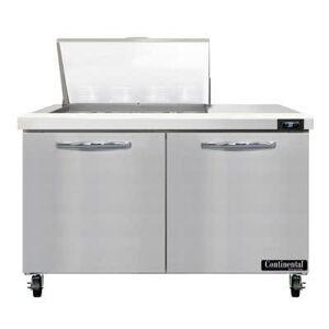"Continental ""Continental SW48N12M 48"""" Sandwich/Salad Prep Table w/ Refrigerated Base, 115v"""