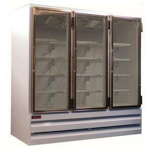 "Howard McCray ""Howard McCray GF65BM-S-FF-LED 78"""" Three Section Display Freezer w/ Swing Doors - Bottom Mount Compressor, Stainless, 115v"""