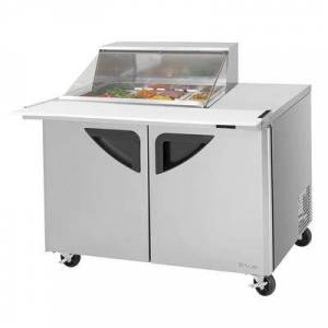 "Turbo Air ""Turbo Air TST-48SD-12M-N-CL 48 3/8"""" Sandwich/Salad Prep Table w/ Refrigerated Base, 115v"""