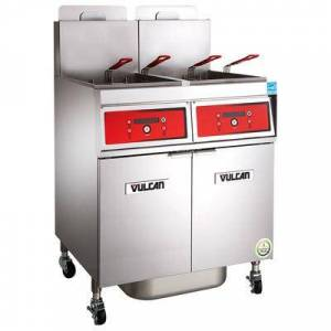Vulcan 4VK65CF Gas Fryer - (4) 70 lb Vats, Floor Model, Liquid Propane