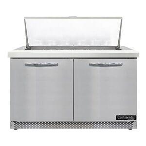 "Continental ""Continental SW48N18M-FB 48"""" Sandwich/Salad Prep Table w/ Refrigerated Base, 115v"""