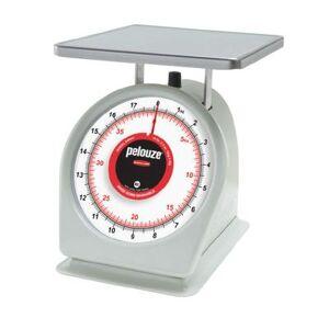 Rubbermaid FG840BW Pelouze Portion Scale - Dial Type, 40 lb x 2 oz/18 kg x 50 g, Red Lens