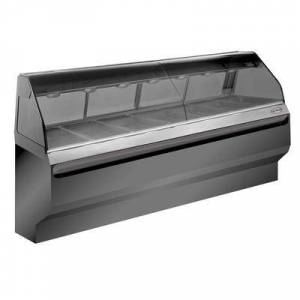 """Alto-Shaam """"Alto-Shaam ED2SYS-96-SS 96"""""""" Halo Heat? Full Service Hot Food Display - Curved Glass, 120/208-240v/1ph, Stainless"""""""