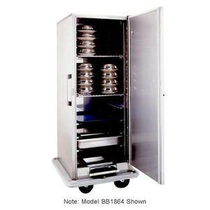 Carter-Hoffmann BB1848 Heated Banquet Cart - (48) Plate Capacity, Stainless, 120v