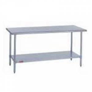 "Duke ""Duke 418-2430 30"""" 18 ga Work Table w/ Undershelf & 400 Series Stainless Flat Top"""