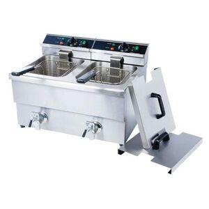 Adcraft DF-12L/2 Countertop Electric Fryer - (2) 25 lb Vats, 208v/1