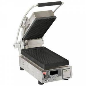 Star PGT7IE Single Commercial Panini Press w/ Cast Iron Grooved Plates, 120v