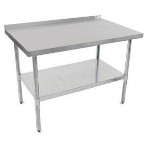 """John Boos """"John Boos UFBLG6018 60"""""""" 18 ga Work Table w/ Undershelf & 430 Series Stainless Top, 1 1/2"""""""" Backsplash"""""""