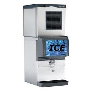 Scotsman C0330SW-1/ID200B-1/KBT44 420 lb Half Cube Ice Maker w/ Countertop Ice Dispenser - 150 lb Storage, Cup Fill, 115v