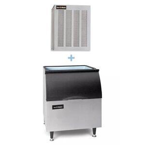 Ice-O-Matic MFI0800A/B40PS 900 lb Flake Cube Ice Maker w/ Bin - 344 lb Storage, Air Cooled, 115v