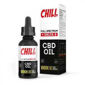 Chill Plus Delta 8 + CBD Tincture Oil - 1000X 500mg