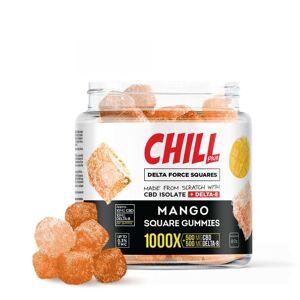 Chill Plus Delta 8 Delta Force Squares Gummies - Mango - 1000X 10mg 50 Count