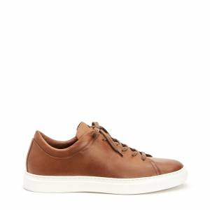 Aquatalia Alaric Cognac In Size 8 - Smooth Leather - Made In Italy