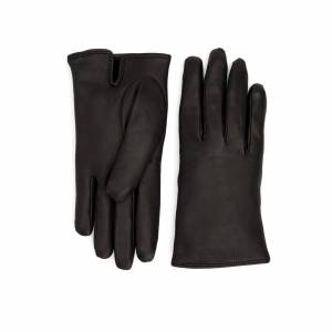 Aquatalia Moto Glove Black In Size 6.5 - Leather Glove - Made In Italy