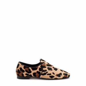 Aquatalia Revy Wide Width Leopard In Size 9 W - Leather - Made In Italy