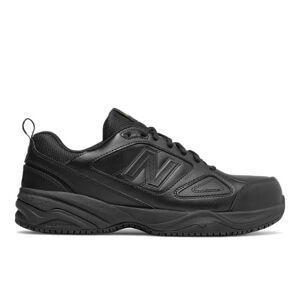 New Balance Men's Steel Toe 627v2 Leather  - Black - Size: 8 4E
