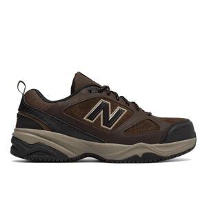 New Balance Men's Steel Toe 627v2  - Brown/Black - Size: 7 4E