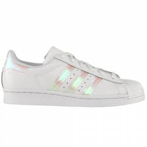 adidas Superstar Lace Up Sneakers (Big Kid)  - Off White - Unisex - Size: Medium