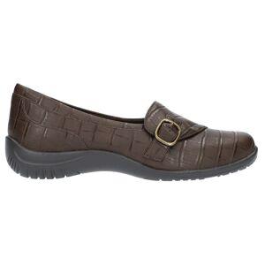 Easy Street Cinnamon Croc Slip On Flats  - Brown - Women - Size: 6.5 A