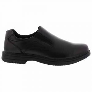 Deer Stags Nu Media Slip On Plain Toe Dress Shoes  - Black - Men - Size: Medium