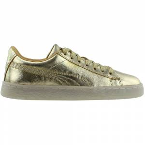 Puma Suede 50th Gold Junior  - Gold - Unisex - Size: Medium