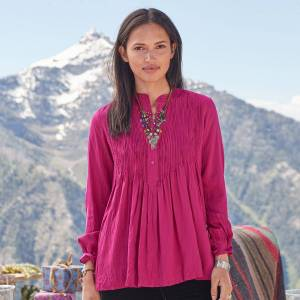 Sundance Catalog Mystic Falls Top  - Raspberry - female - Size: XS