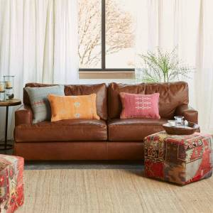 Cisco Systems Cormac Leather Sofa  - female