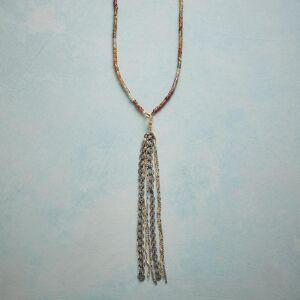 Robindira Unsworth Inc Sunset Tassel Necklace  - Silver - female - Size: One