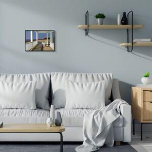 Ashley Furniture Cottage Porch Scene at Sunset 11x14 Black Frame Wall Art, Blue