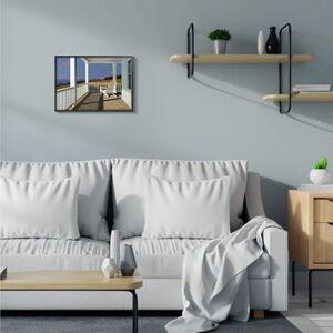 Ashley Furniture Cottage Porch Scene at Sunset 16x20 Black Frame Wall Art, Blue