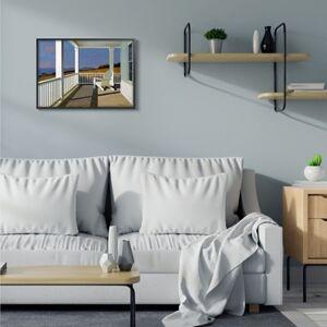 Ashley Furniture Cottage Porch Scene at Sunset 24x30 Black Frame Wall Art, Blue