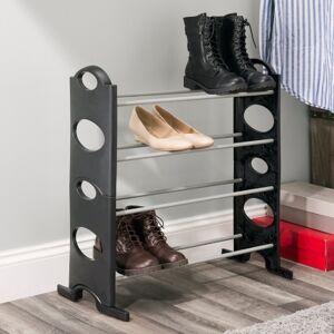 Ashley Furniture Contemporary Stackable 12 Pair Shoe Rack, Black