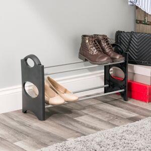 Ashley Furniture Contemporary Six Pair Shoe Rack, Black