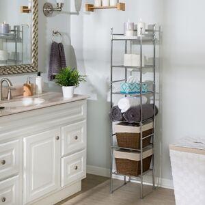 Ashley Furniture Honey-Can-Do 6-Tier Bathroom Storage Shelving Unit, White
