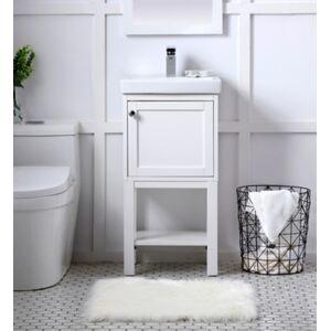 "Ashley Furniture Mason 18"" Single Bathroom Vanity Set, White"