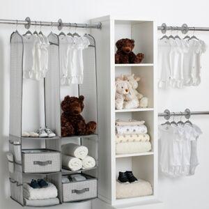 Ashley Furniture Delta Children 24-Piece Nursery Storage Set, Gray