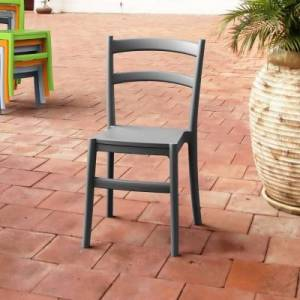Ashley Furniture Siesta Outdoor Tiffany Dining Chair Dark Gray (Set of 2), Dark Gray