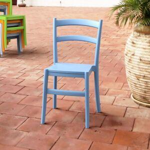 Ashley Furniture Siesta Outdoor Tiffany Dining Chair Light Blue (Set of 2), Light Blue