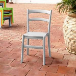 Ashley Furniture Siesta Outdoor Tiffany Dining Chair Silver Gray (Set of 2), Silver Gray