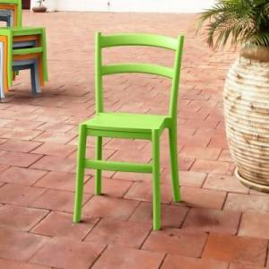 Ashley Furniture Siesta Outdoor Tiffany Dining Chair Tropical Green (Set of 2), Tropical Green
