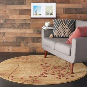 Ashley Furniture Nourison Somerset ST74 Brown 6' Round Area Rug, Latte