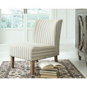 Ashley Furniture Triptis Accent Chair, Cream/Blue
