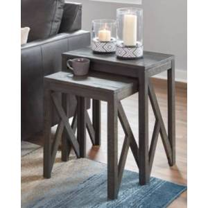 Ashley Furniture Emerdale Accent Table (Set of 2), Gray