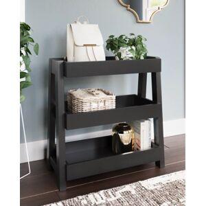 Ashley Furniture Blariden Shelf Accent Table, Metallic Gray