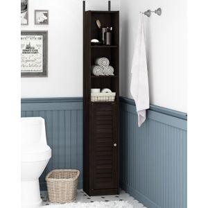Ashley Furniture Furinno Indo Slim Luver Door Bath Cabinet, Espresso