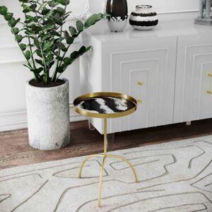 Ashley Furniture Enamel Black/White Accent Table, Black