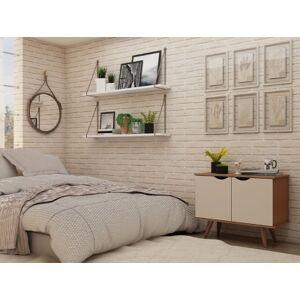 Ashley Furniture Hampton Accent Cabinet, Off White/Maple