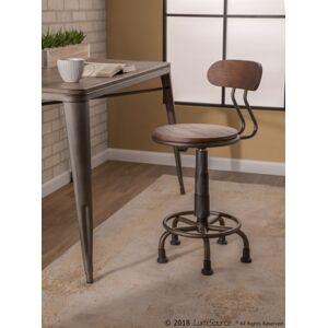 Ashley Furniture Industrial Swivel Task Chair, Black/Espresso