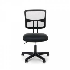 Ashley Furniture OFM Essentials Collection ESS-3020 Swivel Mesh Back Armless Task Chair, Black